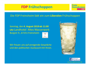 Liberaler Frühschoppen FDP Freinsheim 4.8.2019